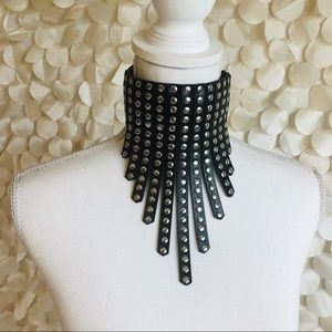 Accessories - Faux Leather Stud Choker